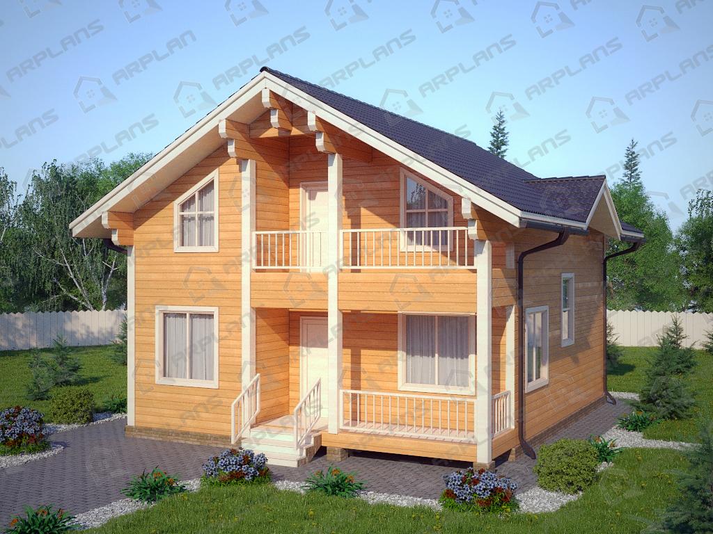 Проект деревянного дома из бруса.
