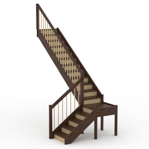г образная деревянная лестница