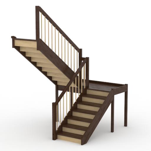 Производство и установка деревянных лестниц на второй этаж.