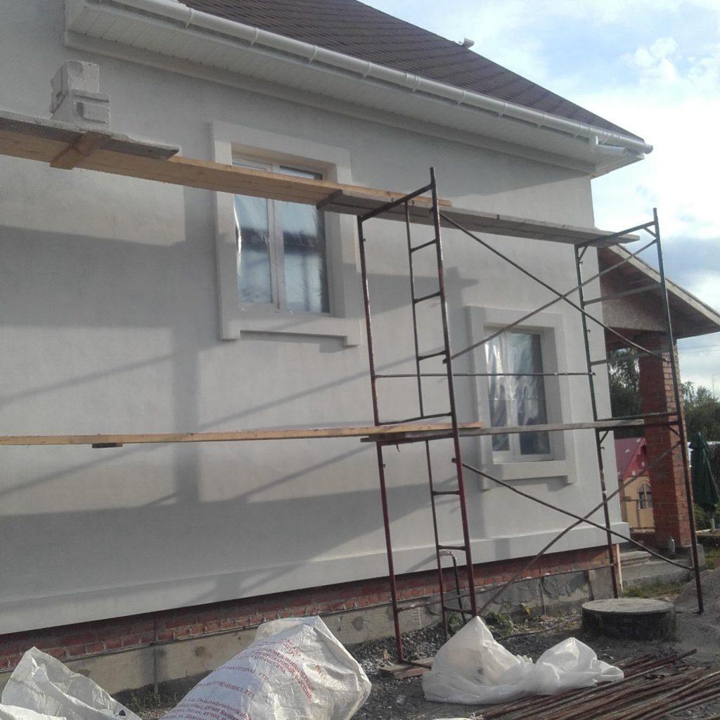 Мокрый фасад. Утепление домов, коттеджей в Уфе