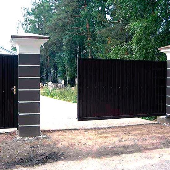 Откатные ворота под ключ
