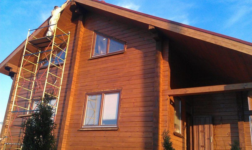 Покраска деревянного дома в Уфе