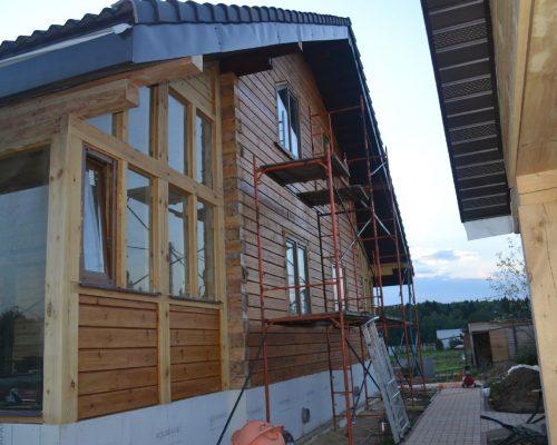 покраска деревянного дома уфа
