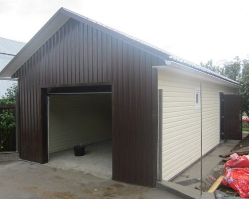 Как поставить гараж на землю