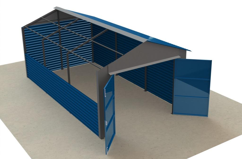 Гараж металлопрофилем крыша