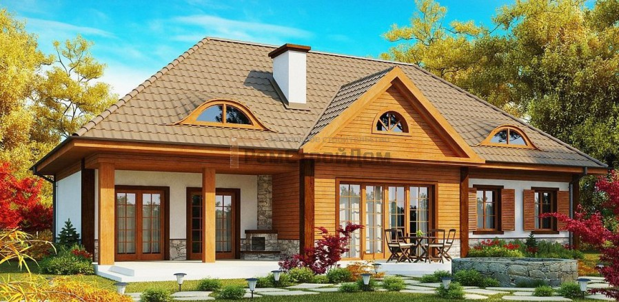 Проект дома из газобетонных блоков 235 м2