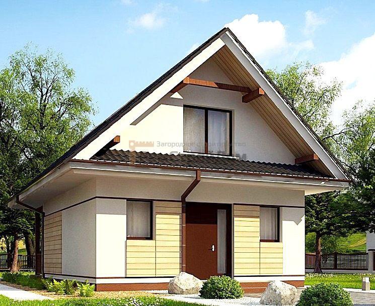 Проект дома из газобетонных блоков 78 м2 - цена 1482000 руб.