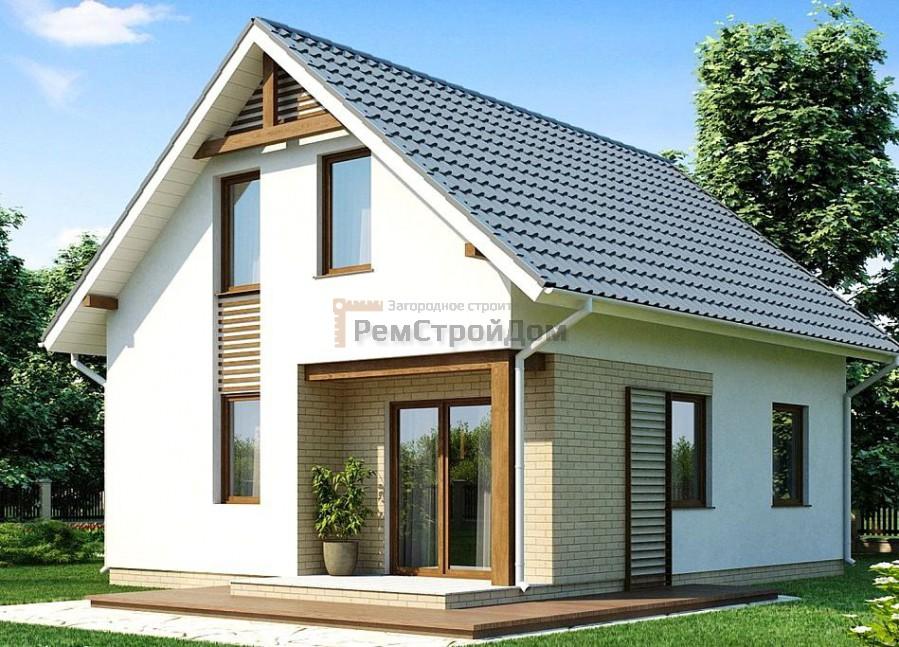 Проект дома из газобетонных блоков 91.5 м2 - цена 1738500 руб.