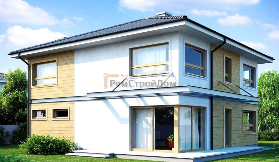 Проект дома из газобетонных блоков 211 м2