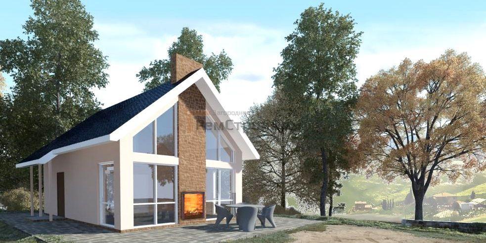 Проект дома из газобетонных блоков 70 м2 - цена 1330000 руб.