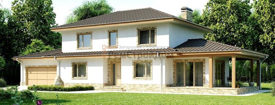 Проект дома из газобетонных блоков 257.6 м2 - цена 4894400 руб.