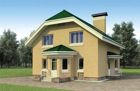 Проект кирпичного дома 10х12 метров